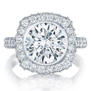 HT26142RD10 Platinum Tacori RoyalT Engagement Ring