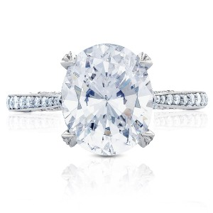 HT2627OV11X9 Platinum Tacori RoyalT Engagement Ring