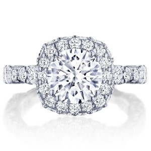 HT2653CU8 Platinum Tacori RoyalT Engagement Ring