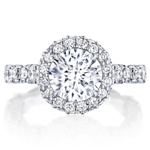 HT2653RD8 Platinum Tacori RoyalT Engagement Ring