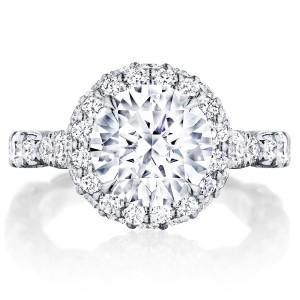 HT2653RD9 Platinum Tacori RoyalT Engagement Ring