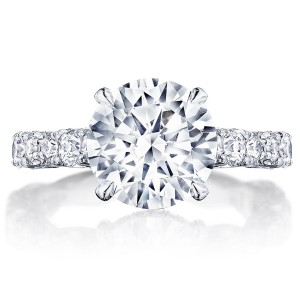 HT2654RD95 Platinum Tacori RoyalT Engagement Ring