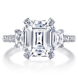 HT2656EC10X8 Platinum Tacori RoyalT Engagement Ring