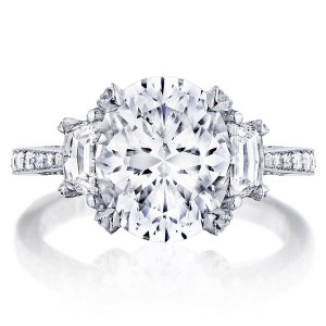 HT2656OV11X9 Platinum Tacori RoyalT Engagement Ring