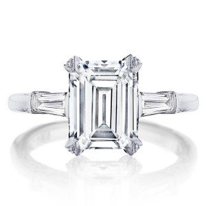 HT2657EC95X75 Platinum Tacori RoyalT Engagement Ring