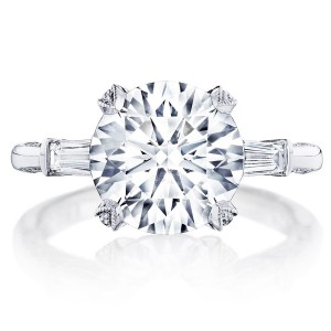 HT2657RD10 Platinum Tacori RoyalT Engagement Ring