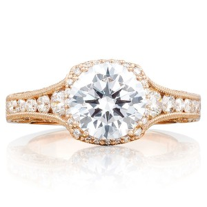 Tacori HT2515RD812XPK 18 Karat Pretty In Pink Engagement Ring