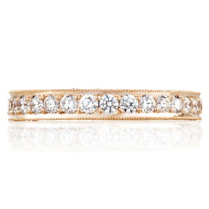 Tacori HT2605B34PK 18 Karat Pretty in Pink Diamond Wedding Band