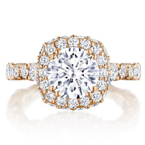 Tacori HT2653CU8PK 18 Karat RoyalT Engagement Ring