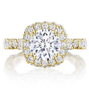 Tacori HT2653CU8Y 18 Karat RoyalT Engagement Ring