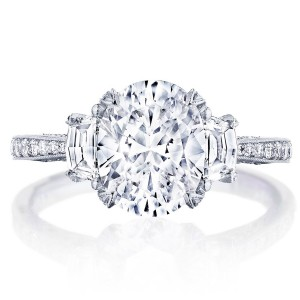 Tacori HT2655OV95X75 18 Karat RoyalT Engagement Ring