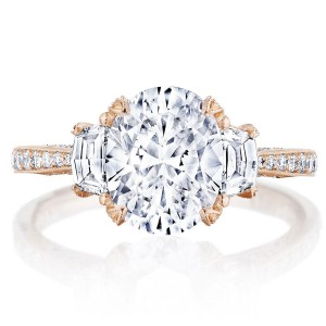 Tacori HT2655OV95X75PK 18 Karat RoyalT Engagement Ring
