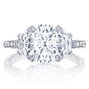 Tacori HT2656RD95 18 Karat RoyalT Engagement Ring