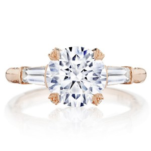 Tacori HT2657RD85PK 18 Karat RoyalT Engagement Ring