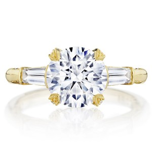 Tacori HT2657RD85Y 18 Karat RoyalT Engagement Ring