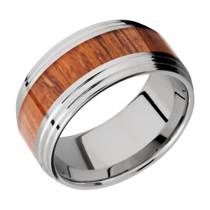 Lashbrook 10F2S15/HARDWOOD Titanium Wedding Ring or Band