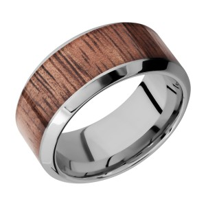 Lashbrook 10HB17/HARDWOOD Titanium Wedding Ring or Band