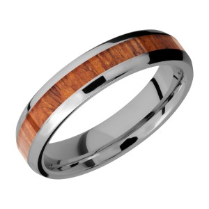 Lashbrook 5B13(NS)/HARDWOOD Titanium Wedding Ring or Band
