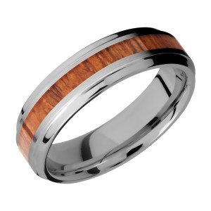 Lashbrook 6B13(S)/HARDWOOD Titanium Wedding Ring or Band