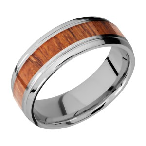 Lashbrook 7B14(S)/HARDWOOD Titanium Wedding Ring or Band