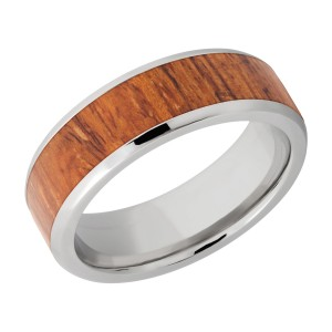 Lashbrook 7B15(NS)/HARDWOOD Titanium Wedding Ring or Band