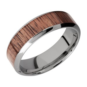 Lashbrook 7HB14/HARDWOOD Titanium Wedding Ring or Band