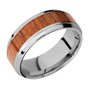 Lashbrook 8B15(S)/DESERTIRONWOOD Titanium Wedding Ring or Band