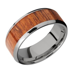 Lashbrook 8B16(NS)/HARDWOOD Titanium Wedding Ring or Band