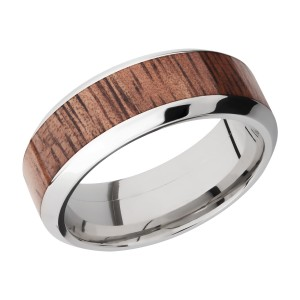 Lashbrook 8HB15/HARDWOOD Titanium Wedding Ring or Band