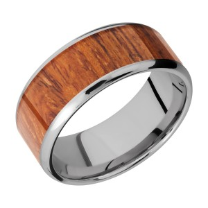 Lashbrook 9B17(NS)/HARDWOOD Titanium Wedding Ring or Band