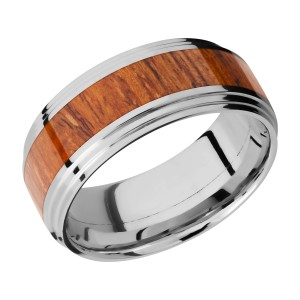 Lashbrook 9F2S14/HARDWOOD Titanium Wedding Ring or Band