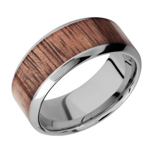 Lashbrook 9HB16/HARDWOOD Titanium Wedding Ring or Band