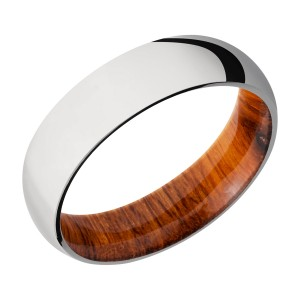 Lashbrook HWSLEEVECC6D Cobalt Chrome and Hardwood Wedding Ring or Band
