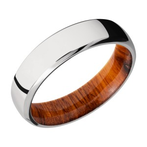 Lashbrook HWSLEEVECC6DB Cobalt Chrome and Hardwood Wedding Ring or Band