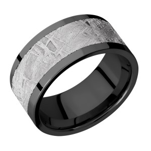 Lashbrook Z10F17/METEORITE Zirconium Wedding Ring or Band