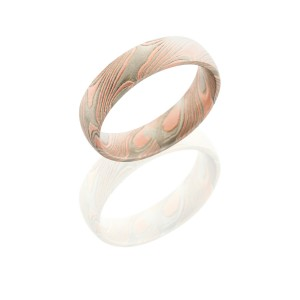 Lashbrook M5D14R14PWSS TEXTURED BEADBLAST Mokume Gane Wedding Ring or Band