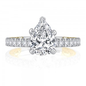 A.JAFFE 14 Karat Classic Engagement Ring MECPS2349Q
