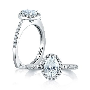A Jaffe 14 Karat Signature Engagement Ring MES185