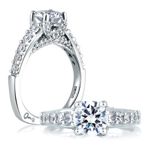 A Jaffe 14 Karat Signature Engagement Ring MES239
