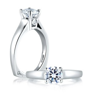 A Jaffe 14 Karat Solitaire Engagement Ring MES063