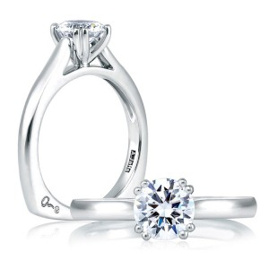 A Jaffe 14 Karat Solitaire Engagement Ring MES166