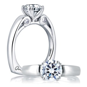 A Jaffe 14 Karat Solitaire Engagement Ring MES237