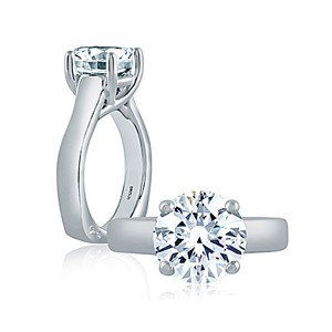 A.JAFFE 18 Karat Signature Engagement Ring MES515
