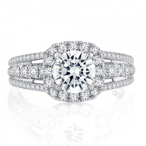 A.JAFFE 18 Karat Signature Engagement Ring MESRD2338