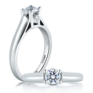 A Jaffe Platinum Classic Engagement Ring ME1256 / 04