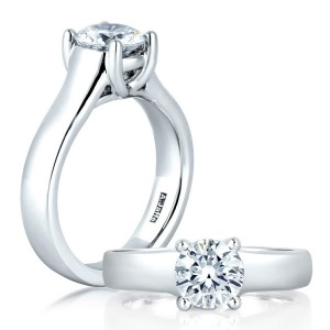 A Jaffe Platinum Classic Engagement Ring ME1280