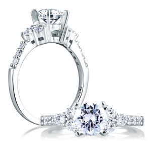 A Jaffe Platinum Classic Engagement Ring ME1290