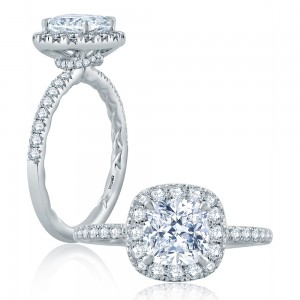 A.JAFFE Platinum Classic Engagement Ring ME2169Q