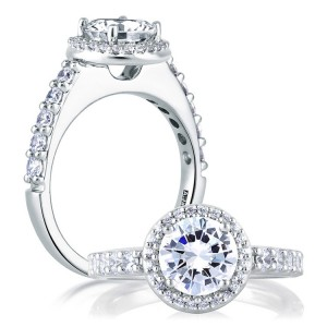 A Jaffe Platinum Diamond Engagement Ring ME1459
