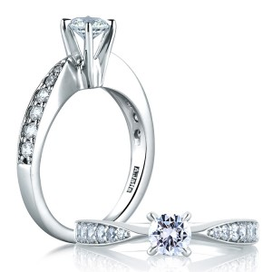 A Jaffe Platinum Diamond Engagement Ring ME1531